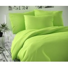 Saténové francúzske predĺžené obliečky LUXURY COLLECTION svetlo zelené 1 + 2, 240x220, 70x90cm