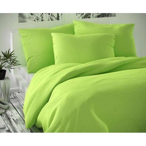 Saténové francúzske obliečky LUXURY COLLECTION svetlo zelené 1 + 2, 200x200, 70x90cm