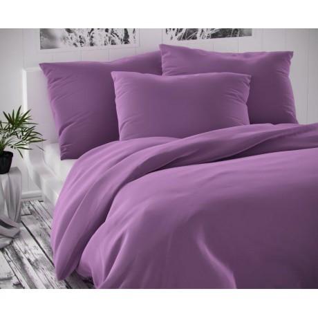 Saténové francúzske predĺžené obliečky LUXURY COLLECTION fialové 1 + 2, 240x220, 70x90cm