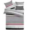Francúzske bavlnené obliečky 240x200, 70x90cm GRID sivé