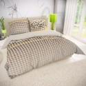 Francúzske bavlnené obliečky VENTO hnedé 240x200, 70x90cm
