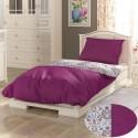 Bavlnené posteľné obliečky PROVENCE COLLECTION 140x200, 70x90cm NARISTA purpurová