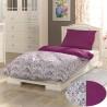 Francúzske predĺžené bavlnené obliečky PROVENCE COLLECTION 240x220, 70x90cm NARISTA purpurová