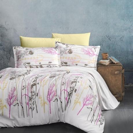 Predĺžené posteľné flanelové obliečky 140x220, 70x90cm SANTORINI