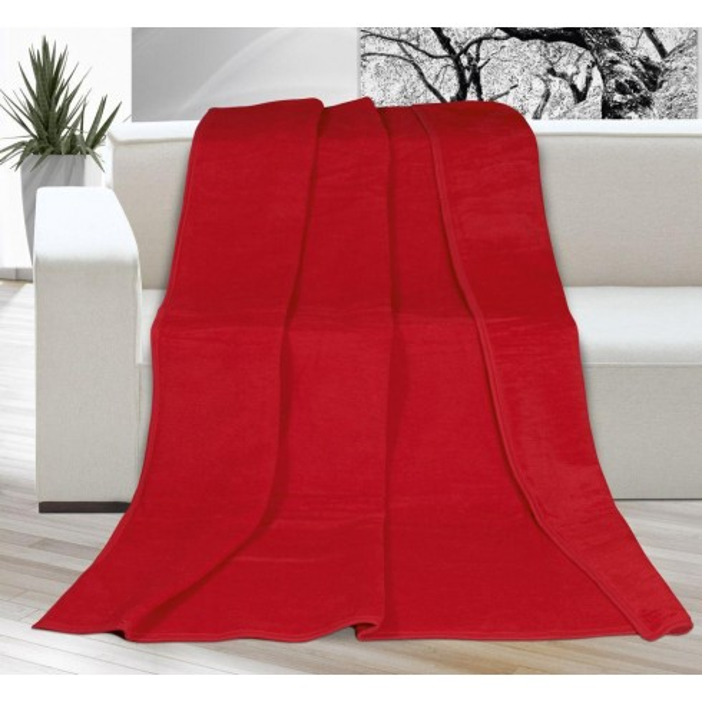 Deka jednofarebná 150x200cm červená
