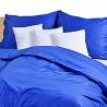 Ložní povlečení bavlněný satén tmavě modrý (LS154) Ložní povlečení 140x220 + 90x70 - (LS154)