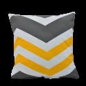 Ložní povlečení bavlněné cikcak žlutý (LS192) Povlak na polštářek 40x40 - (LS192)