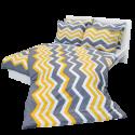 Ložní povlečení bavlněné cikcak žlutý (LS192) Povlak na polštář 90x70 - (LS192)