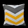 Ložní povlečení bavlněné cikcak žlutý (LS192) Ložní povlečení 140x220 + 90x70 - (LS192)