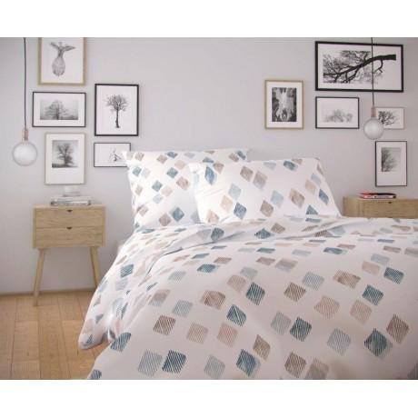 Predĺžené bavlnené obliečky NORDIC COLLECTION 140x220, 70x90cm AGNES