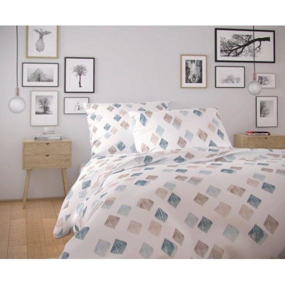 Francúzske predĺžené bavlnené obliečky NORDIC COLLECTION 240x220, 70x90cm AGNES