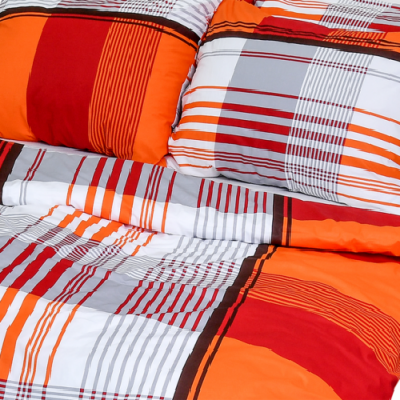 Posteľné obliečky krepové Sofie oranžová (LS279) posteľné návliečky 140x200 + 90x70 - (LS279)