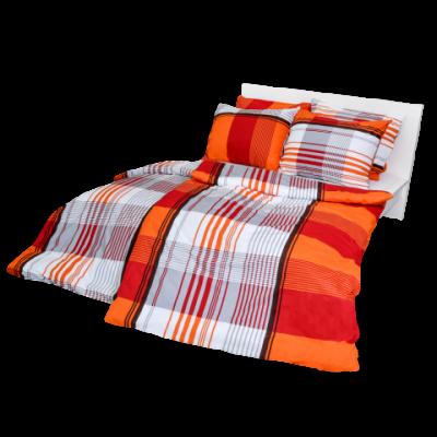 Posteľné obliečky krepové Sofie oranžová (LS279) posteľné návliečky 140x220 + 90x70 - (LS279)