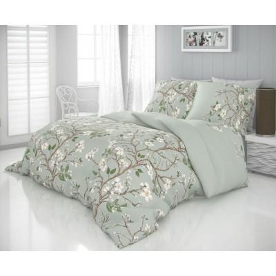 Saténové predĺžené obliečky LUXURY COLLECTION 140x220, 70x90cm JARO zelené