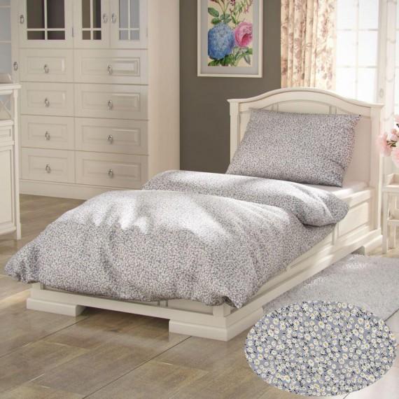Francúzske bavlnené obliečky PROVENCE COLLECTION 200x200, 70x90cm SEDMOKRÁSKA sivá