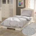 Francúzske bavlnené obliečky PROVENCE COLLECTION 240x200, 70x90cm SEDMOKRÁSKA sivá