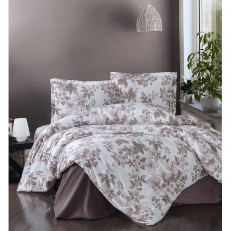 Klasické posteľné flanelové obliečky 140x200, 70x90cm MIAROSA béžová