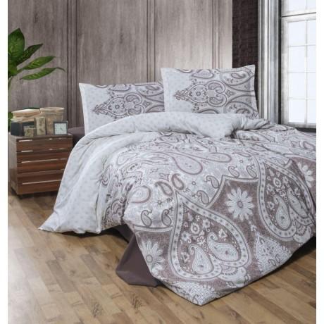 Klasické posteľné flanelové obliečky 140x200, 70x90cm AZKA béžová