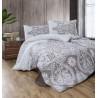 Predĺžené posteľné flanelové obliečky 140x220, 70x90cm AZKA béžová